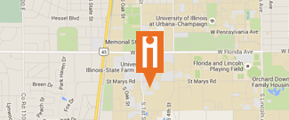 Google map marker of iHotel location